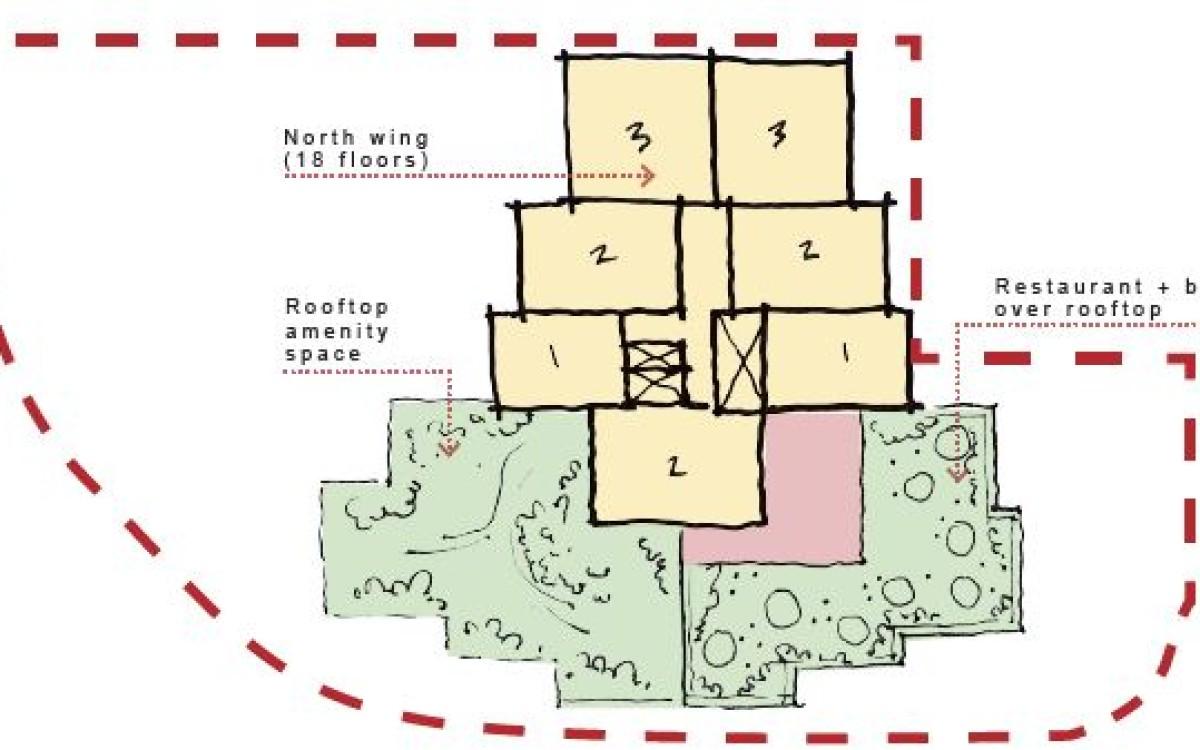 Typical upper level floor plan