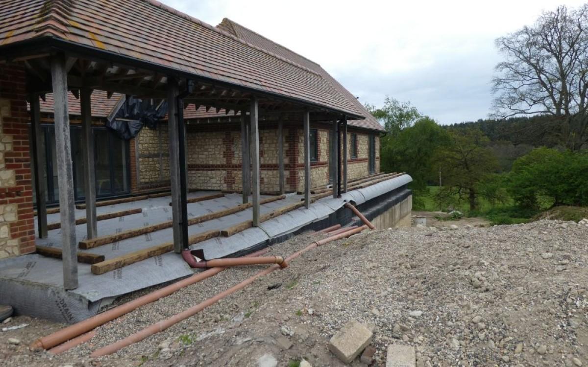 Terrace under construction
