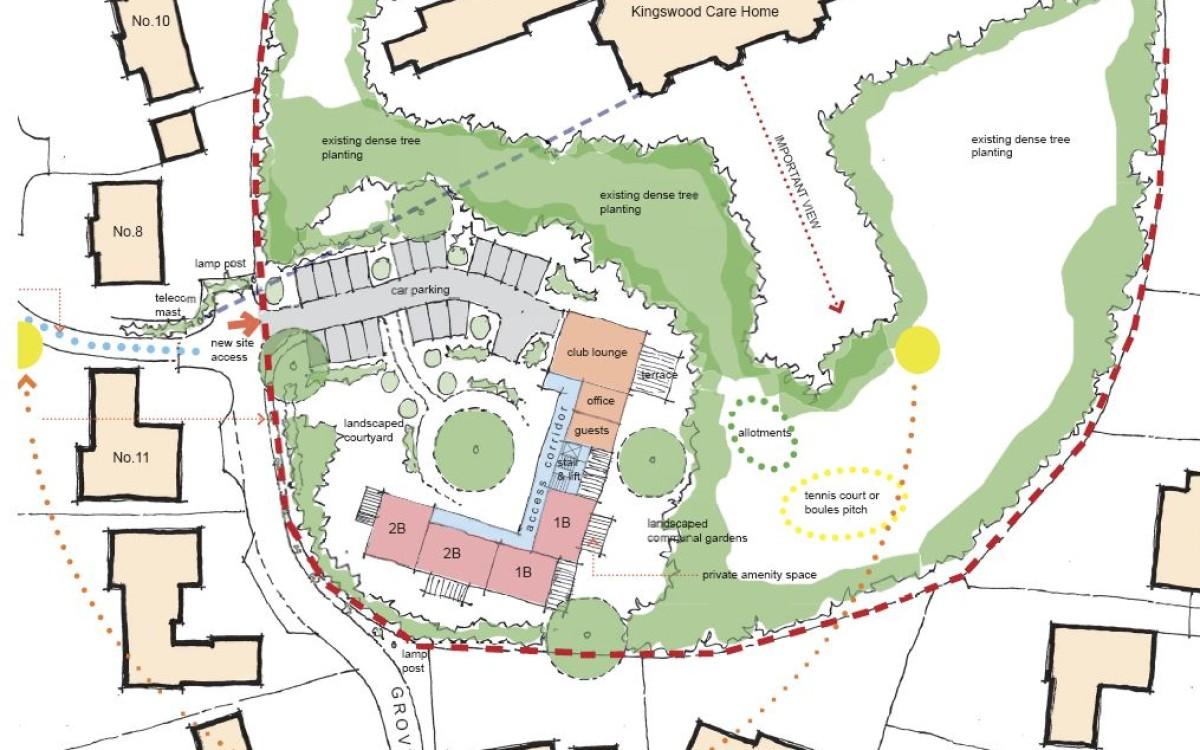Kingswood retirement apartments sketch scheme