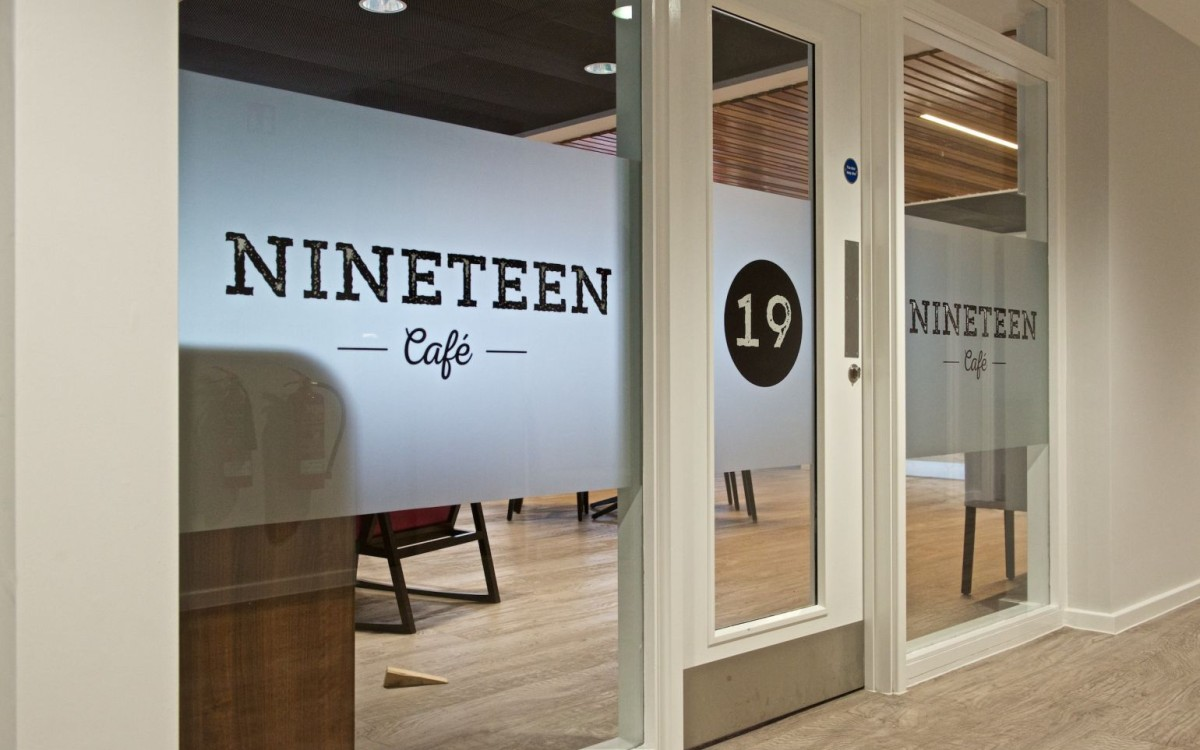 The 64 Restaurant signage, Chichester College