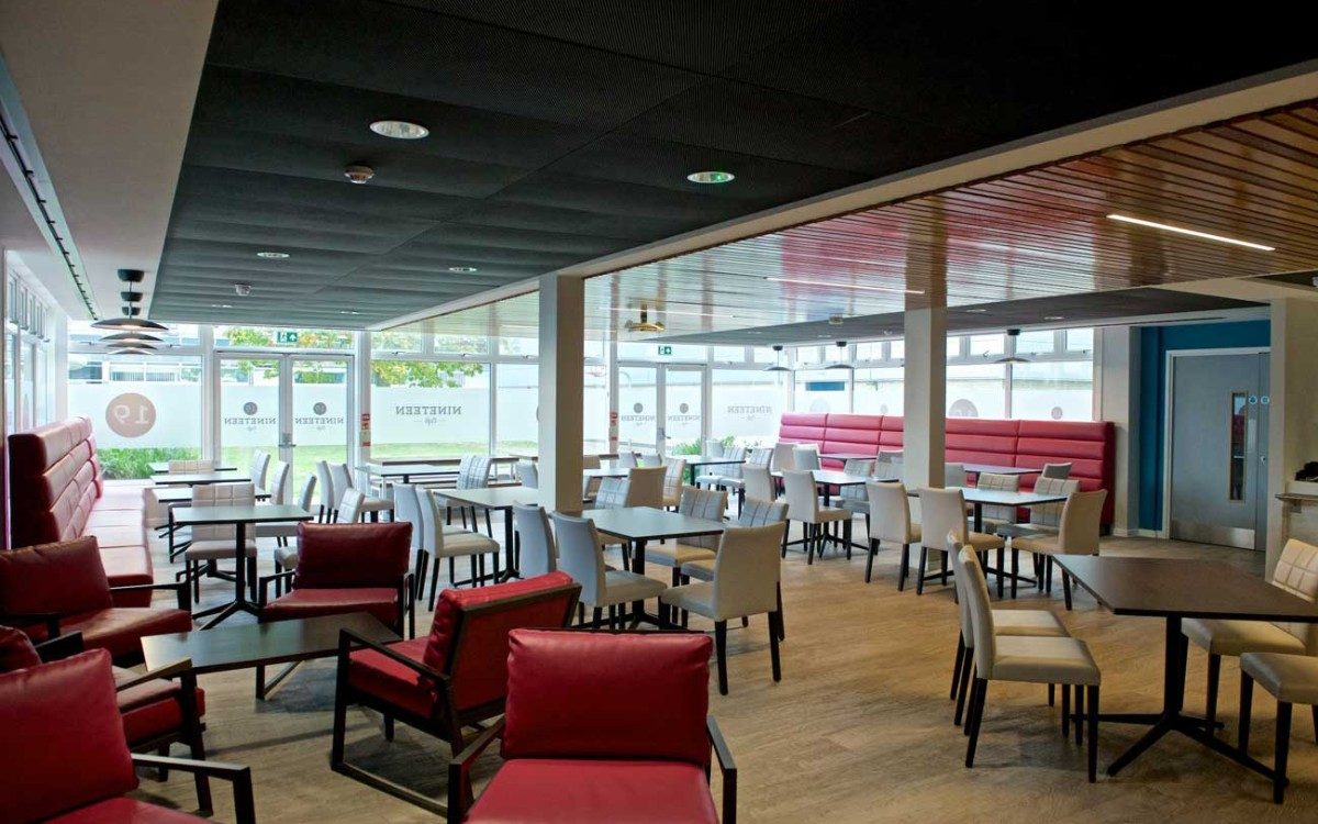 A view of the new brasserie