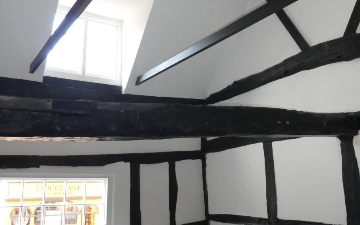 Upper storey high level window
